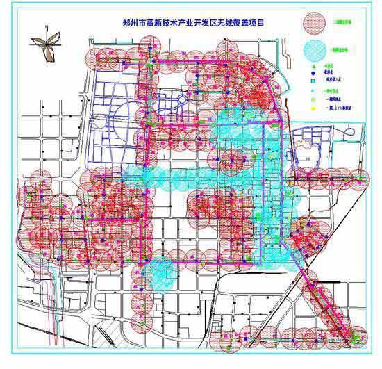 郑州市高新技术产业开发区无线覆盖项目图