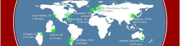 网站访问速度全球测试位置