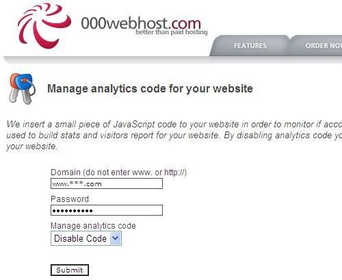 去除000webhost主机添加的分析代码