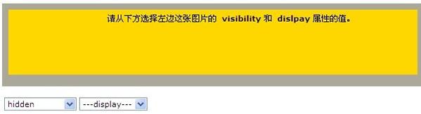 visibility:display属性