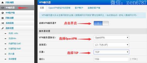 开启VPN服务器